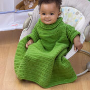 Red Heart Crochet Baby Snuggle Up with Sleeves, 6 mos