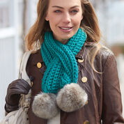 Bernat Pull-Through Pompom Scarf