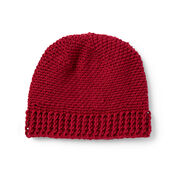 Go to Product: Patons Everyday Crochet Hat, Red in color