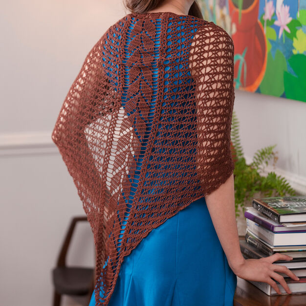 Aunt Lydia's Falling Leaves Shawl in color