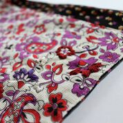 Dual Duty Embroidered Corduroy Scarf