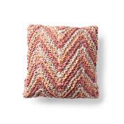Bernat Zig and Zag Knit Pillow