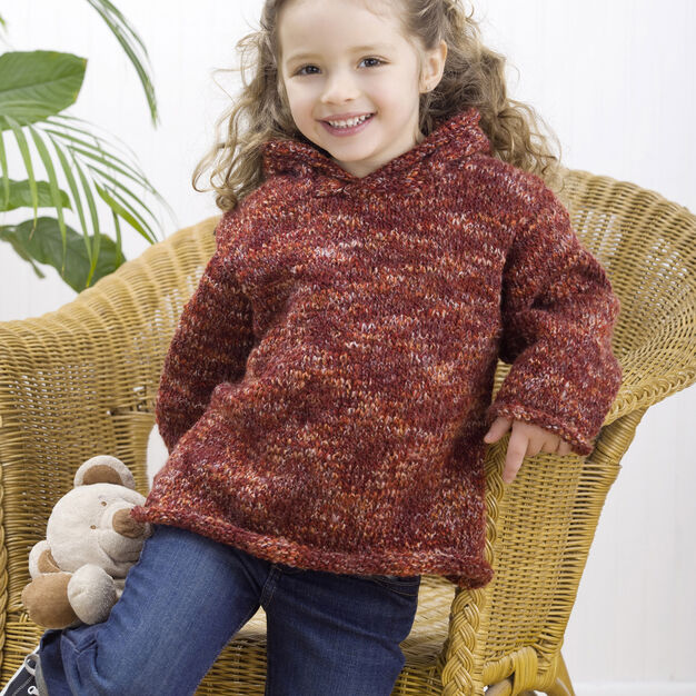 Red Heart Easy Child's Hoodie, 4 yrs in color