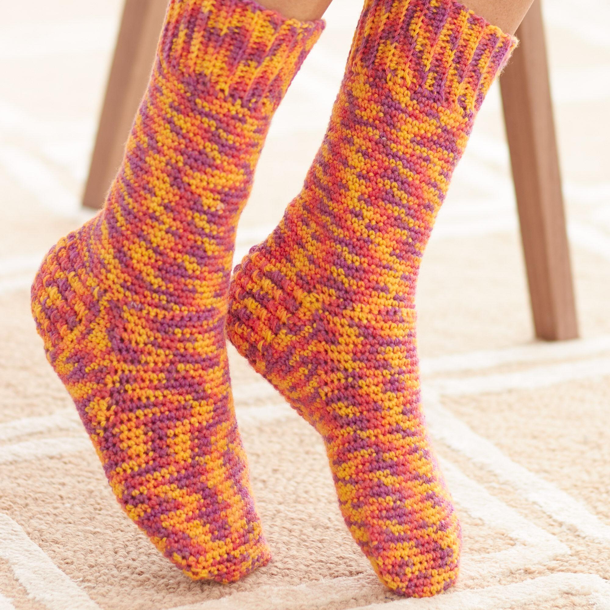 Bernat Basic Socks, Size 5/6   Yarnspirations