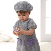 Patons I Heart My Dress & Beret, Beret - 6 mos