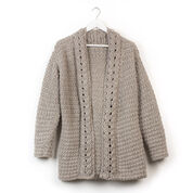 Patons Slouchy Crochet Cardigan, XS/S