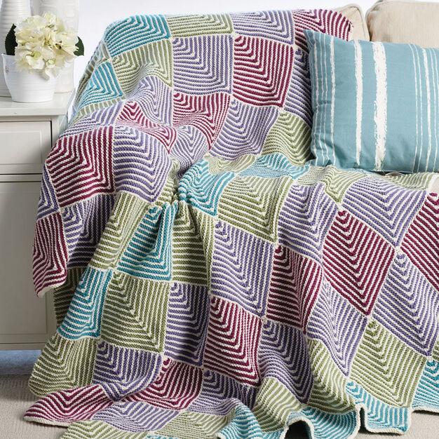 Bernat Mitered Blanket in color