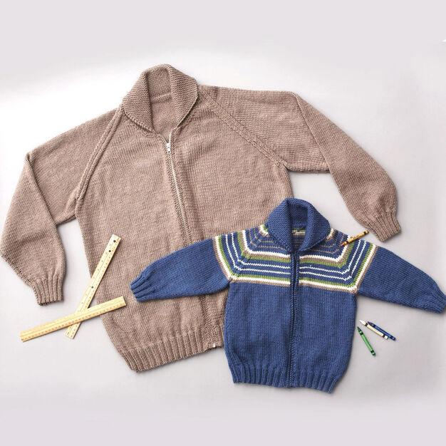 Patons Adult Raglan Sleeve Jacket, Solids - XS/S
