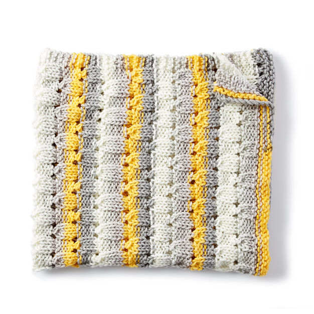 Bernat Knit Patchwork Blanket Pattern Yarnspirations Yarnspirations
