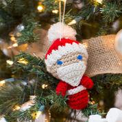Go to Product: Red Heart Amigurumi Santa Ornaments in color
