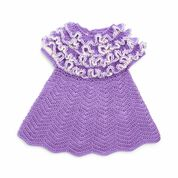 Go to Product: Bernat Crochet Ruffle Yoke Baby Dress , 6 mos in color