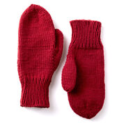 Caron Basic Family Knit Mittens