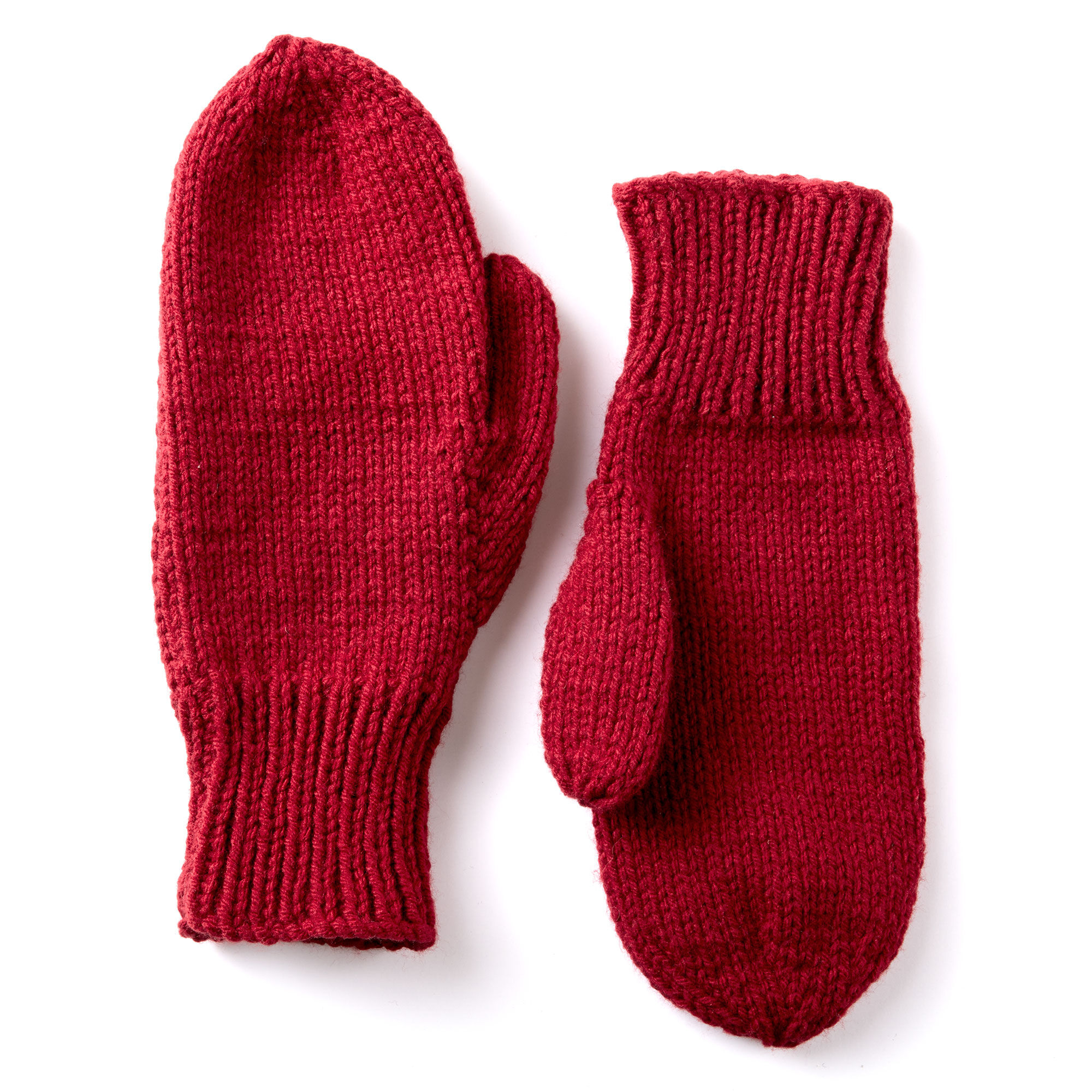 Caron Basic Family Knit Mittens Yarnspirations