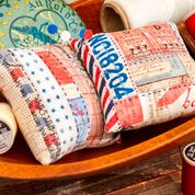 Coats & Clark Strips 'n Stitches and Log Cabin Pincushions