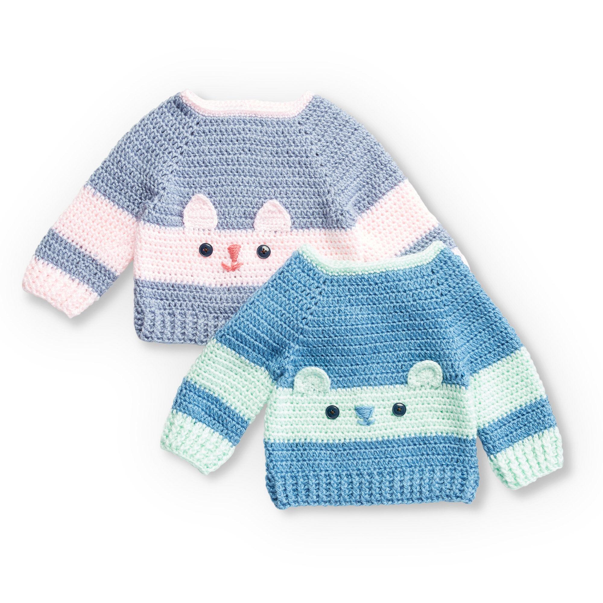 Bernat Crochet Character Sweaters, Kitty - 6 mos. Pattern ...