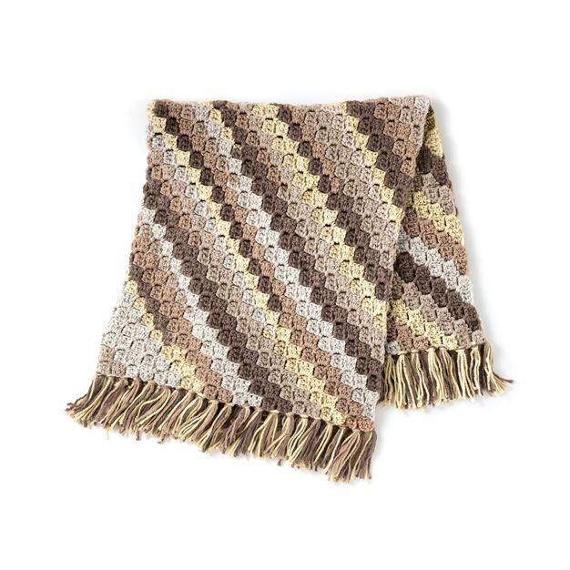 Caron Crochet Corner to Corner Afghan in color