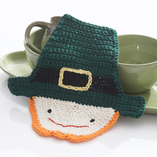 Lily Sugar'n Cream Crochet Leprechaun Dishcloth