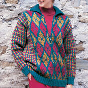 Patons Argyle & Plaid Jacket, S