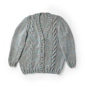 Bernat Simple Cable Knit Cardigan, XS/S