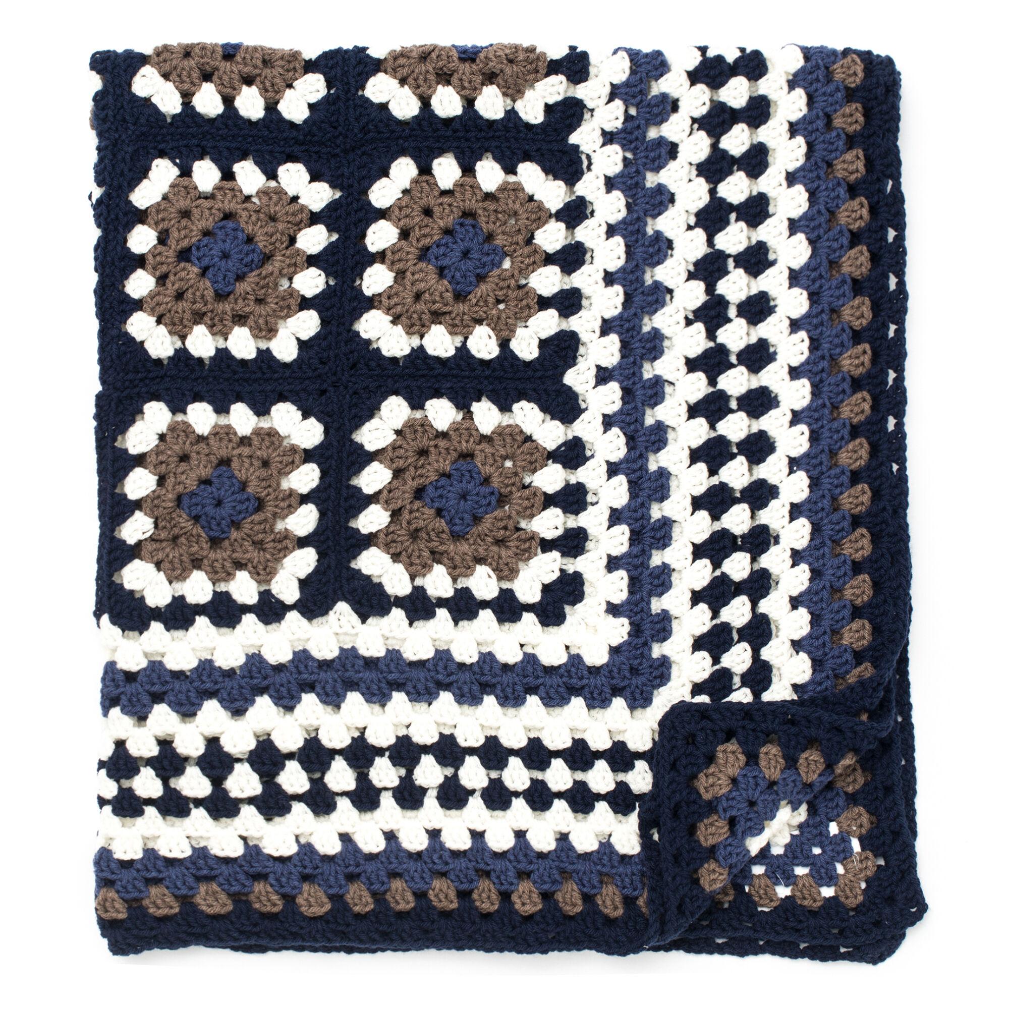 Bernat Framed Crochet Granny Throw | Yarnspirations