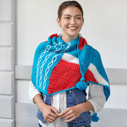 Red Heart Abstractly Chic Shawl Crochet-Along