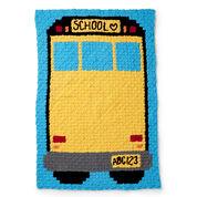 Bernat Cornert to Corner Crochet School Bus Blanket