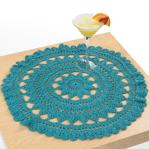 Aunt Lydia's Mediterranean Surf Doily in color