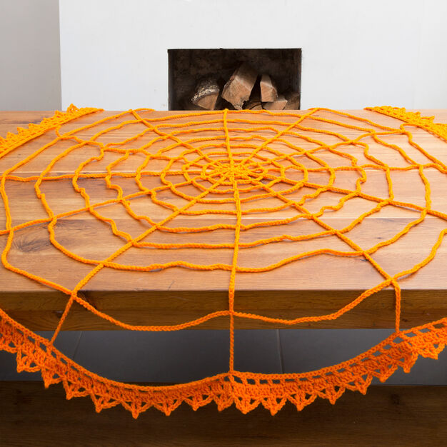 Red Heart Spider Web Table Topper in color