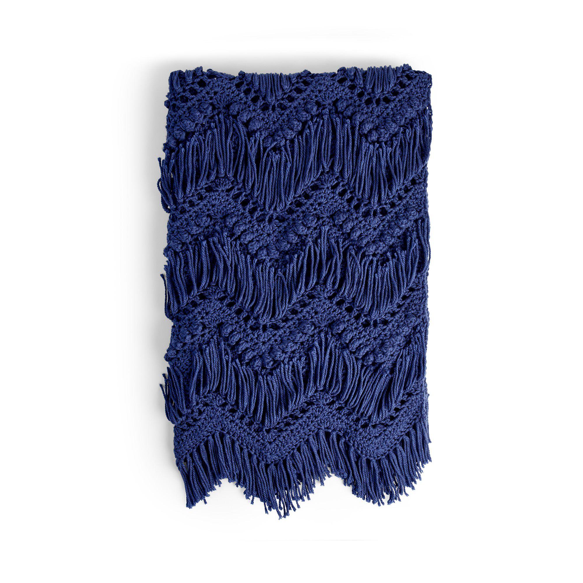 Bernat Bobble and Fringe Blanket Pattern | Yarnspirations