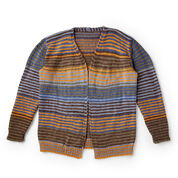 Bernat Slouchy Stripes Knit Cardigan, XS/S
