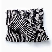 Bernat Mosaic Chevron Knit Blanket
