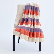 Caron Bold and Stripy Knit Afghan