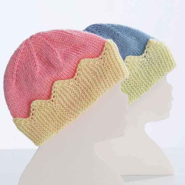 Bernat King/Queen Baby Hats, Queen in color