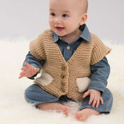 Red Heart Easy Pocketed Vest, 6 mos