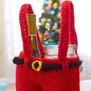Red Heart Santa Pants Gift Holder