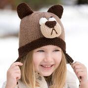 Red Heart Bashful Bear Hat