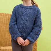 Red Heart Saddle Shoulder Pullover, 4 yrs