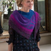 Red Heart Modern Stripe Shawl