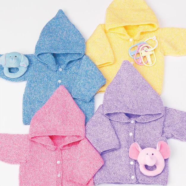 Bernat Baby's Hoodie, 6 mos in color