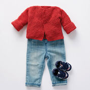 Bernat Soft and Simple Knit Baby Cardigan, 6 mos