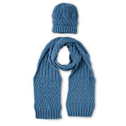 Go to Product: Caron Guernsey Textures Knit Hat and Scarf in color