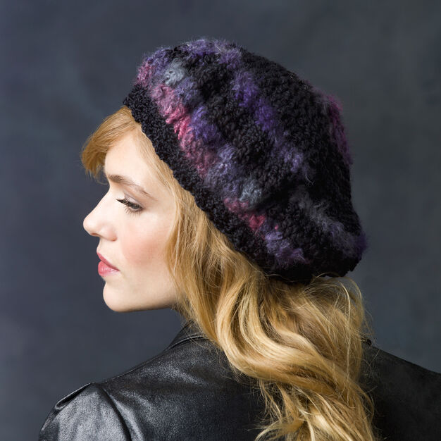 Red Heart Slouchy Beret in color