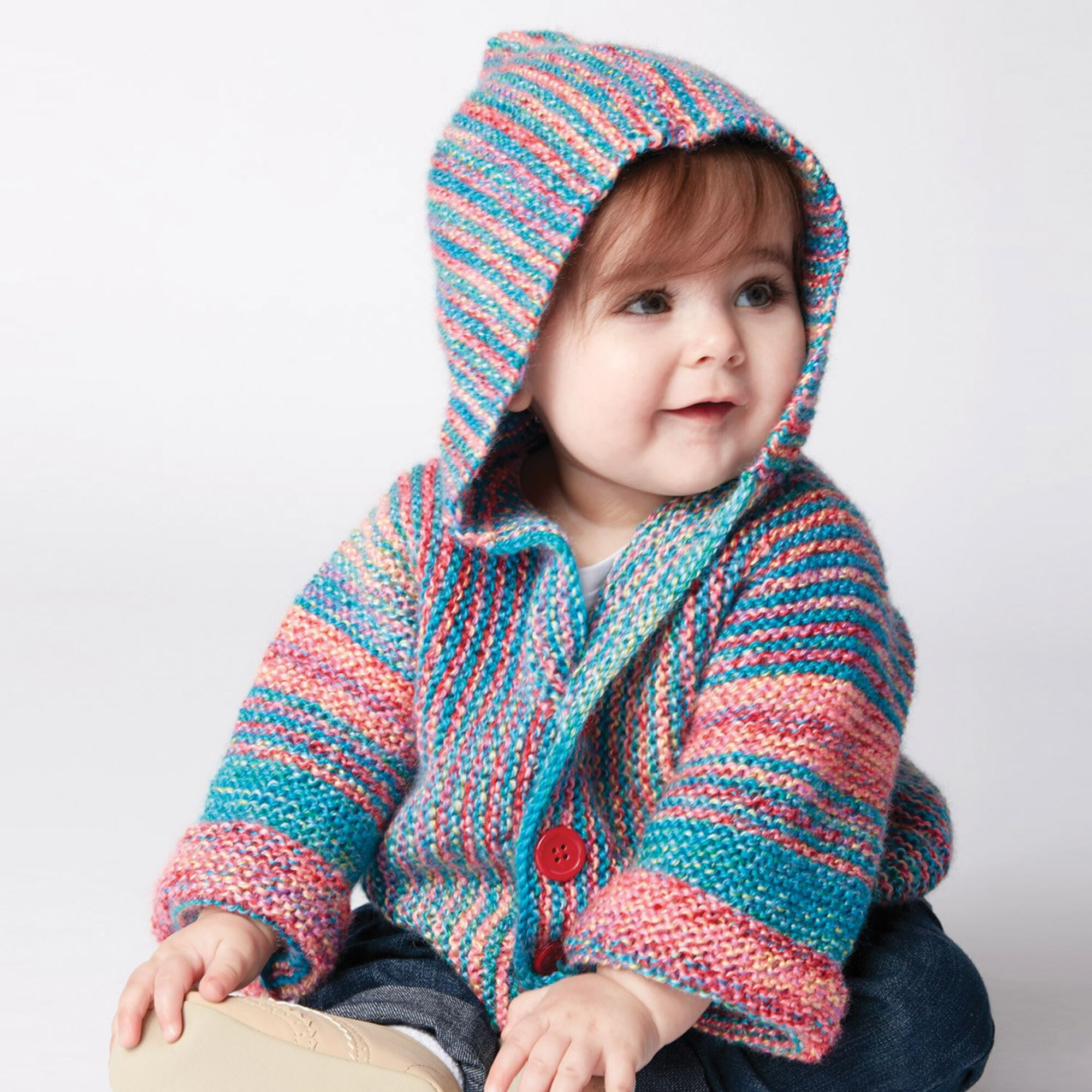 Bernat Show Your Stripes Knit Jacket, 6 mos | Yarnspirations