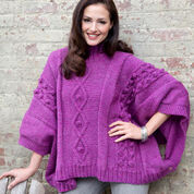 Go to Product: Red Heart Cable and Bobble Poncho, S in color