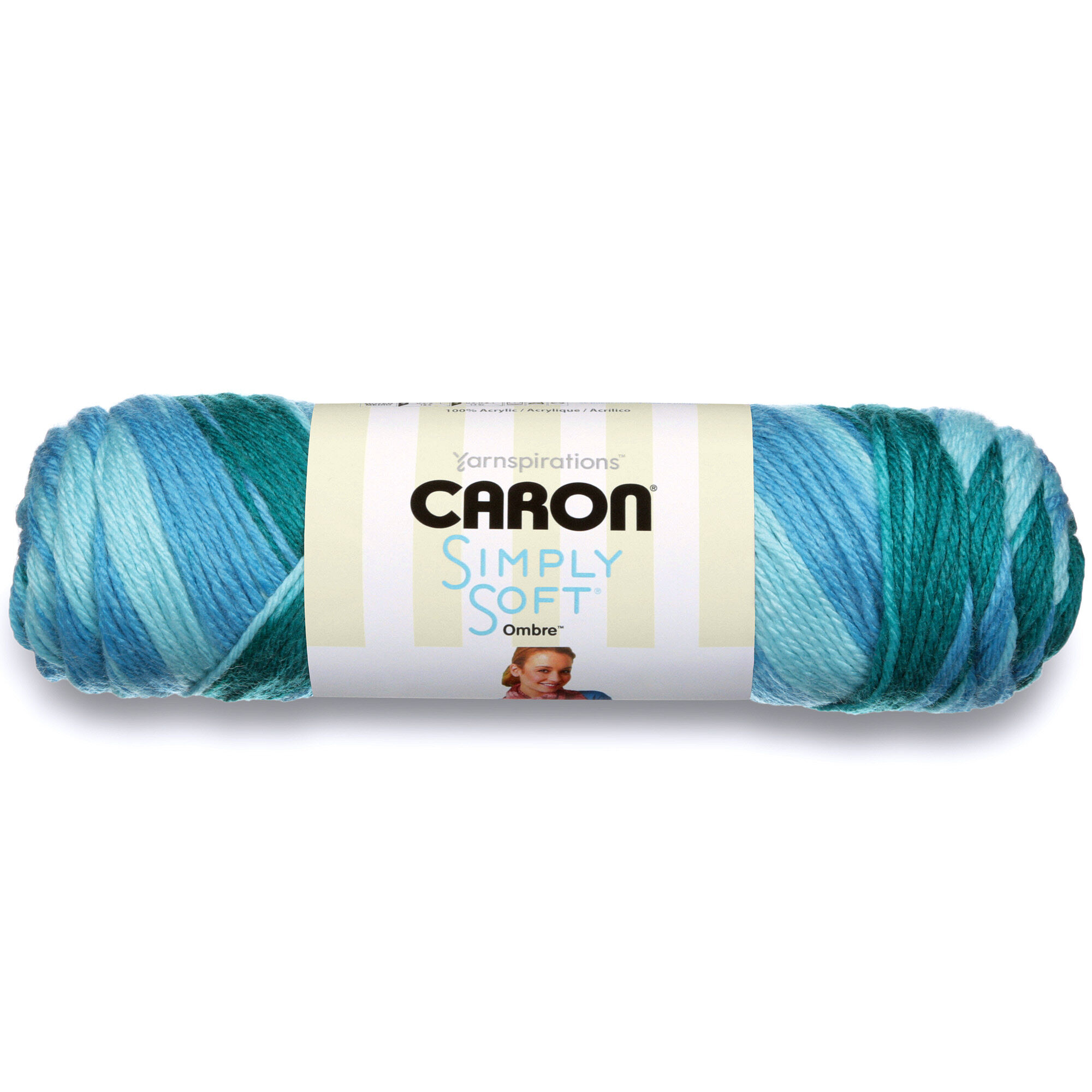 Caron Simply Soft Ombres Yarn-Teal Zeal