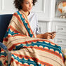 Caron Southwest Stripe Crochet Blanket in color