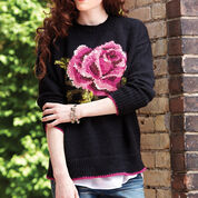 Patons In Bloom Pullover, XS/S