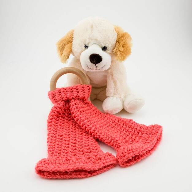 Red Heart Crochet Lovey Teether in color