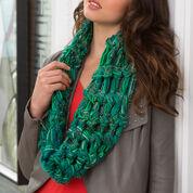 Red Heart Finger Crochet Cowl