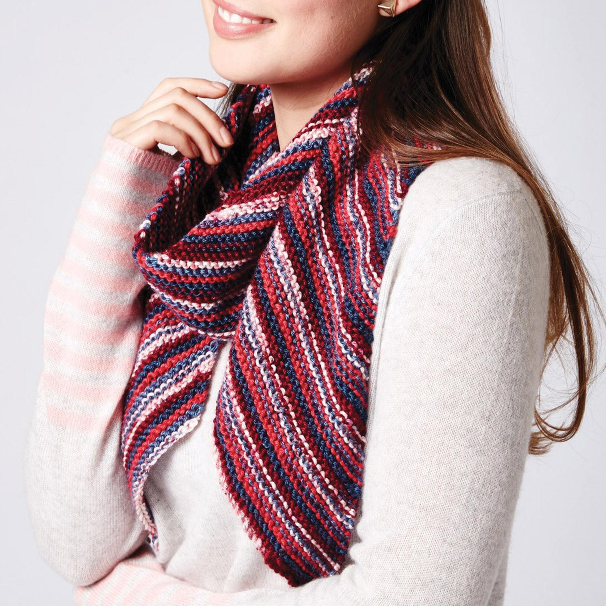 Caron Bias Stripes Scarf   Yarnspirations